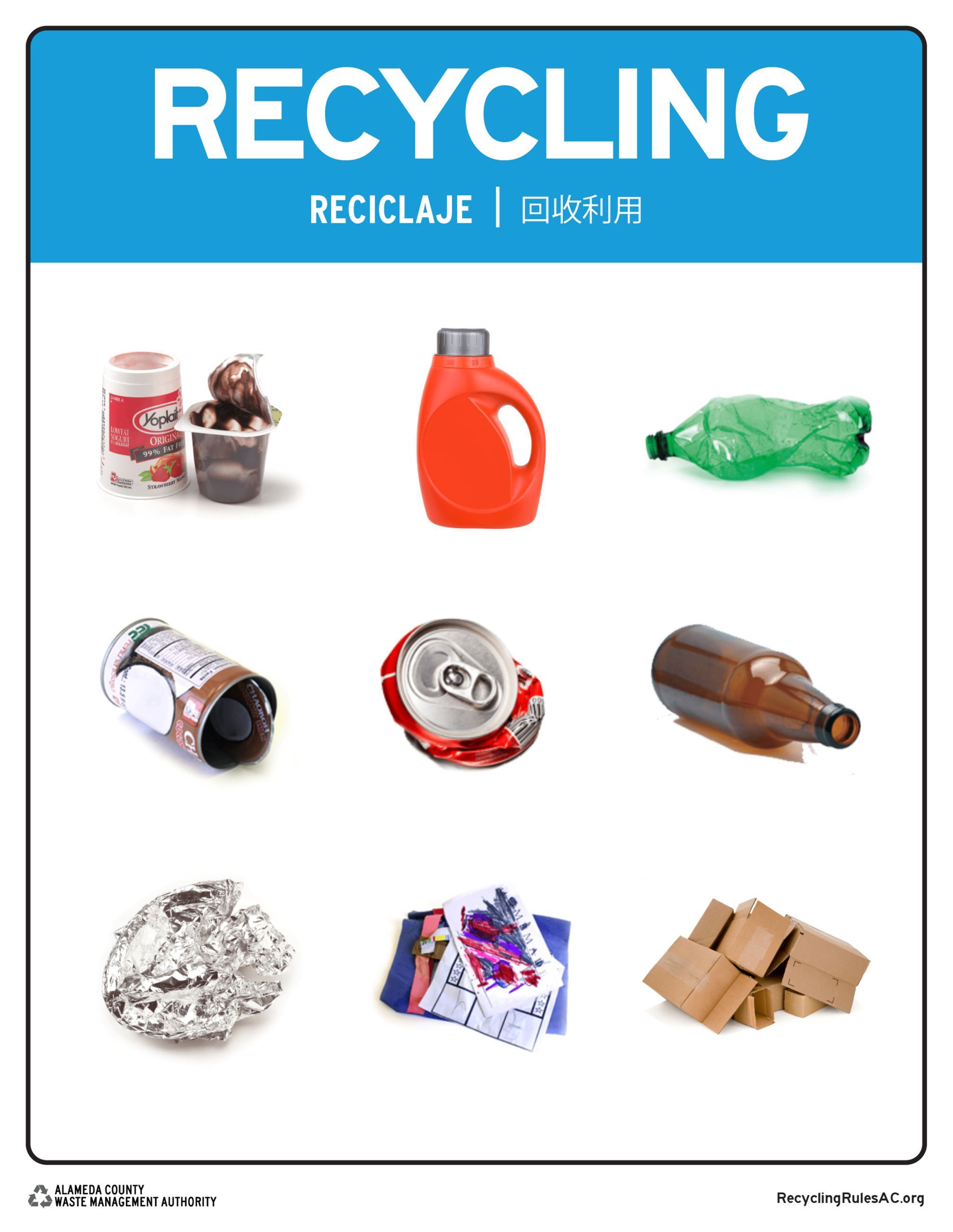 Recycling goods poster