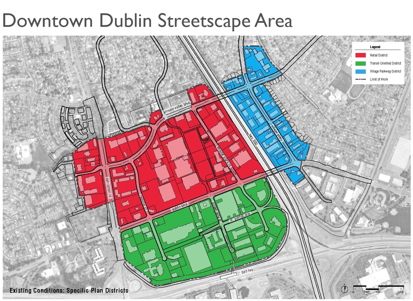 Downtown Dublin Streetscape Area
