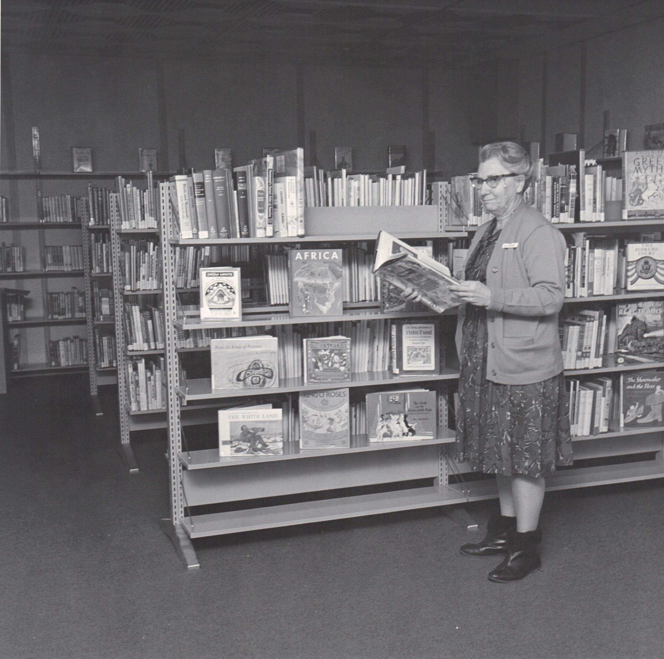 Little Dublin Library  interior with Mrs. Bennett
