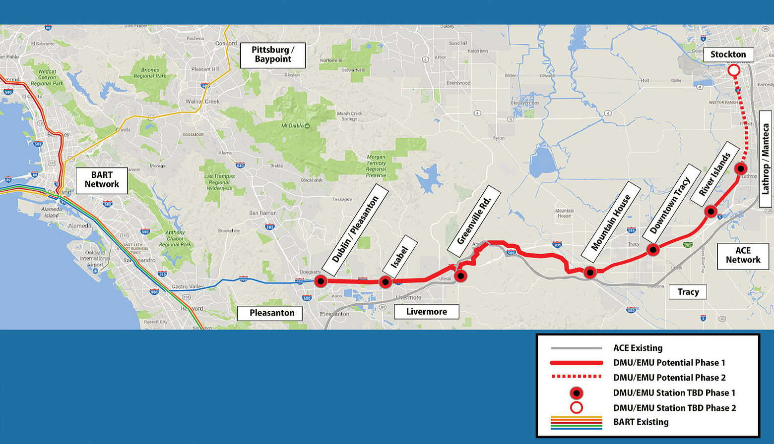 Valley Link map