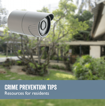 CRIME PREVENTION TIPS: Resources for residents