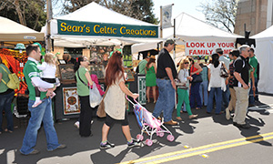 vendors at st. patrick's day celebration